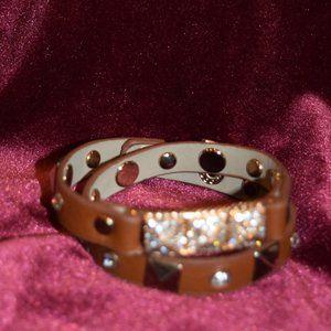 "Michael Kors Leather Wrap Bracelet 15"""
